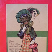 "Top Quality Black Americana Card ""Dere! Enery Clay Can't...."""