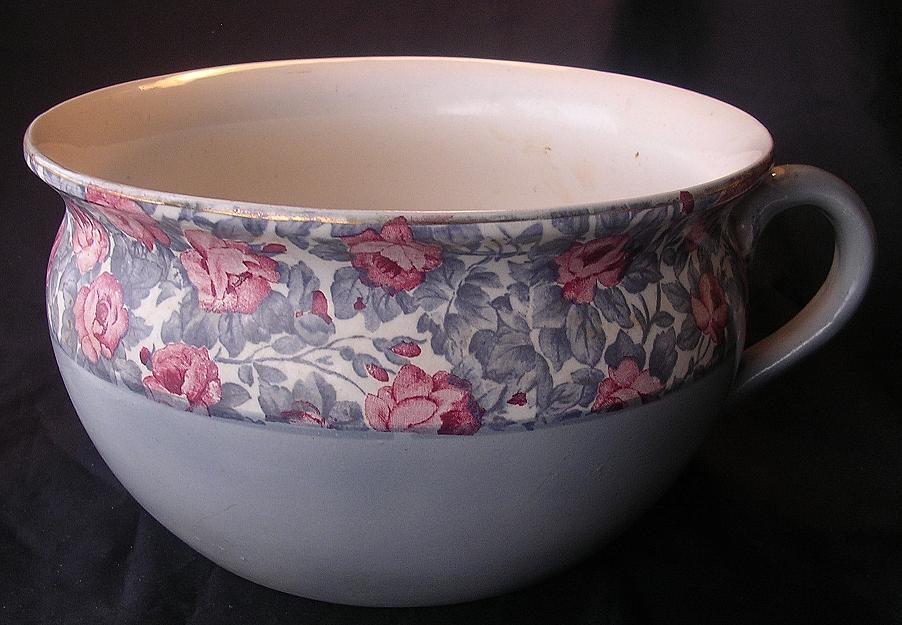 Old English Floral Potty Or Chamber Pot From Molotov On Ruby Lane