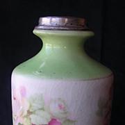 1912 Sterling Silver Rimmed Porcelain Vase