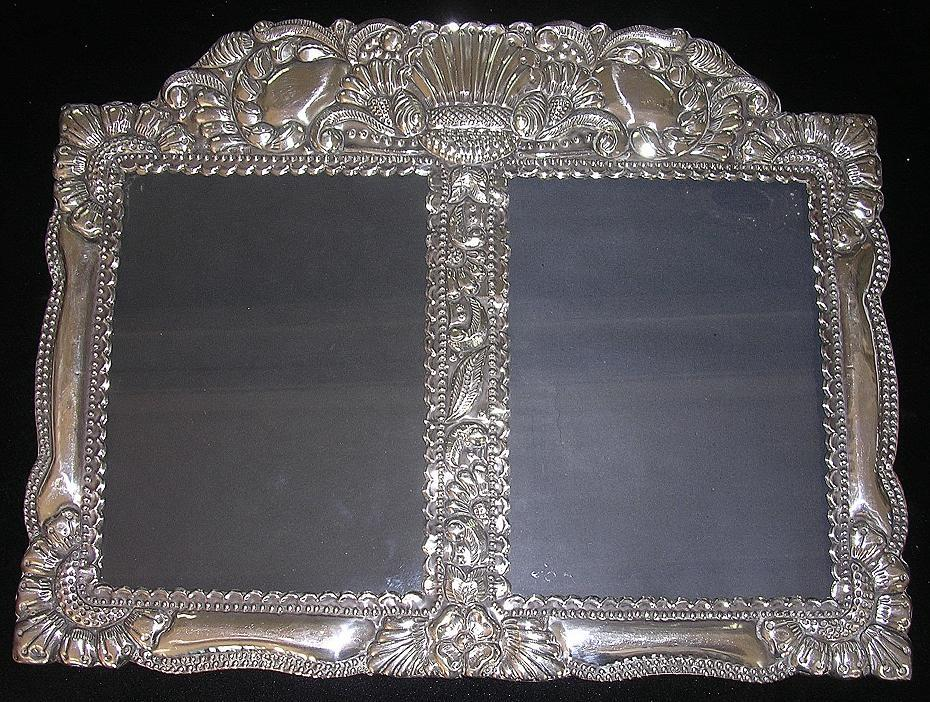 stunning baroque sterling silver picture frame circa early 1900s
