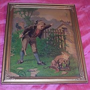 Victorian Lithograph 'Brer Fox is Trapped'