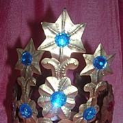 Fantastic Madonna Tiara Crown Circa 1930 - 1940 South America