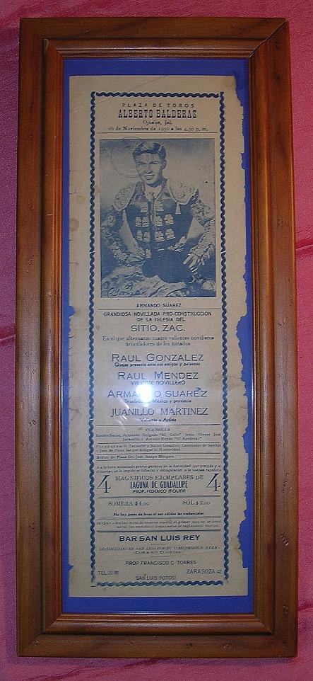 Bull Fight Adverting Poster Mexico 1950
