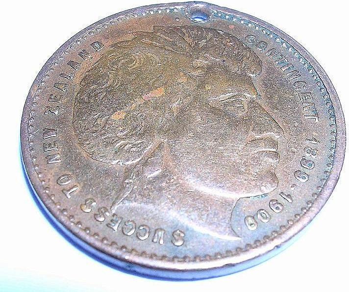 1900 Boer War Medallion 'Success to New Zealand Contingent