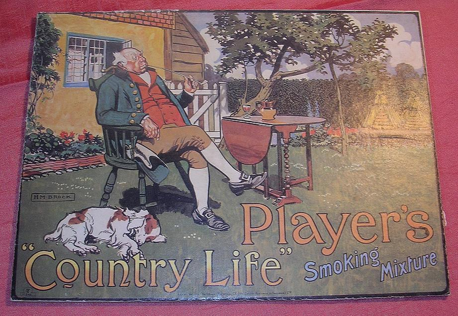 "PLAYER'S ""Country Life"" Smoking Mixture Mounted Display Poster"