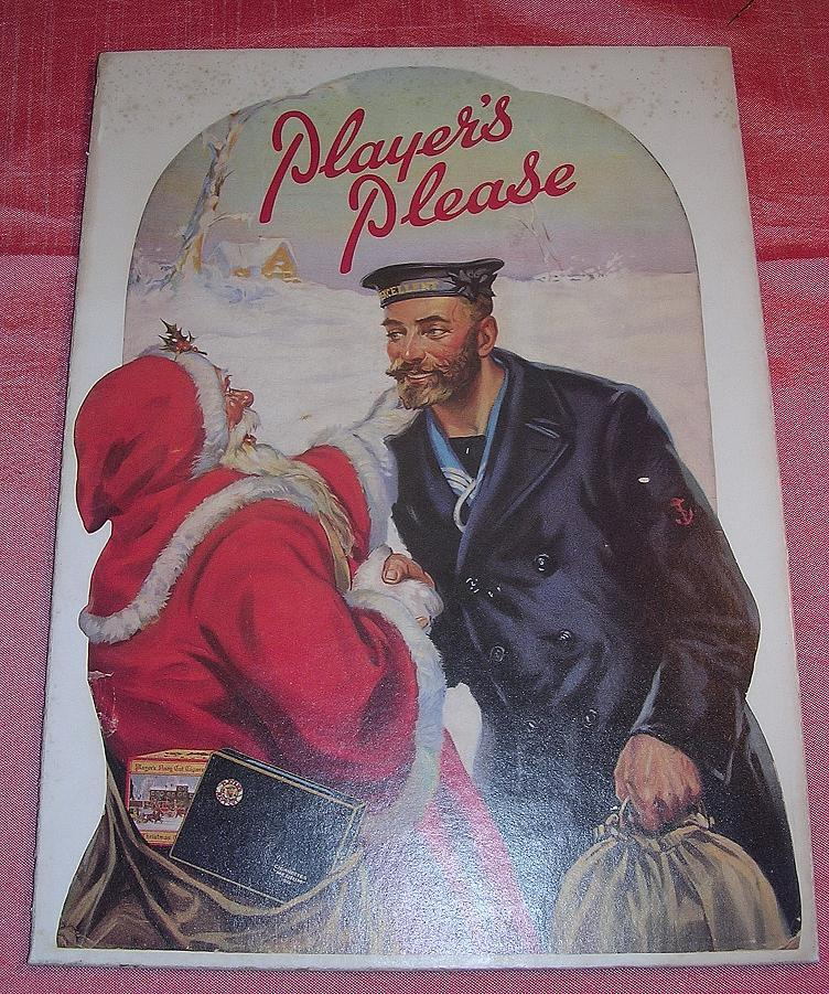 PLAYER'S Please Christmas Mounted Display Poster