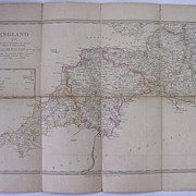 1830 MAP of The South West of England - William IV Period