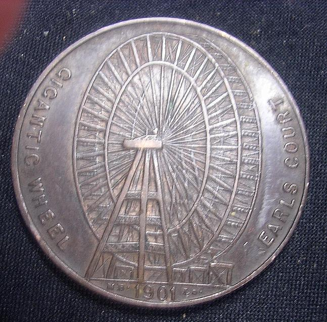 1901 Medallion for The Gigantic Wheel at Earls Court, London