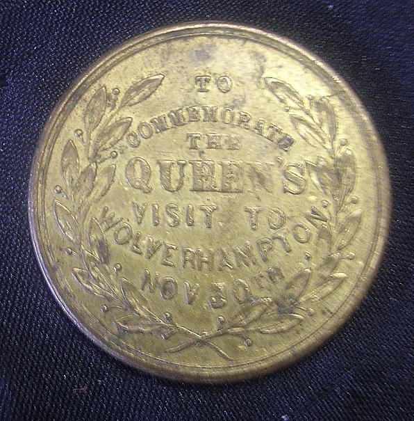 1866 Queen Victoria's Visit to Wolverhampton Commemorative Medallion