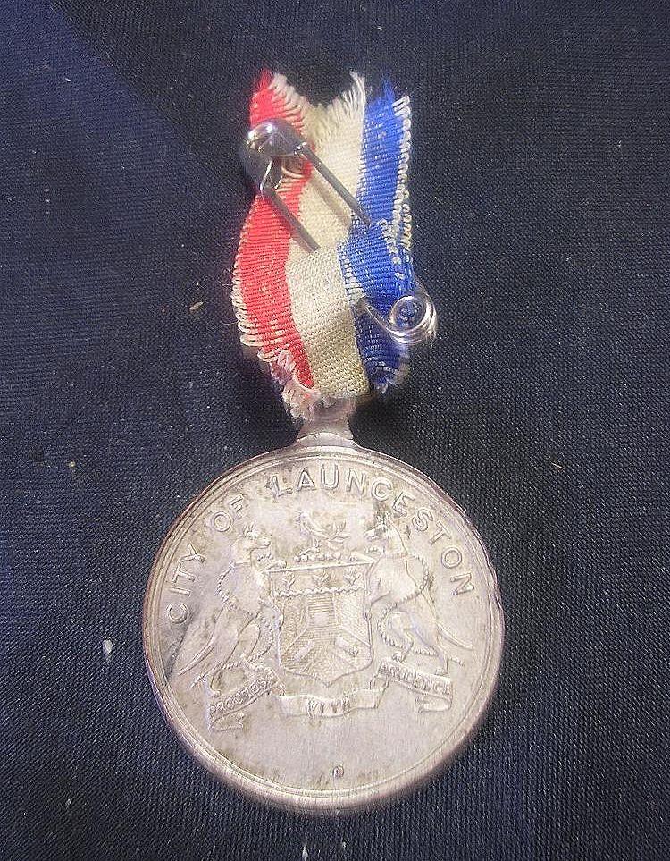 1937 Coronation George V1 Commemorative Medallion -  Launceston, Tasmania