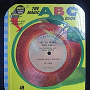 1955 Magic Talking Book 'The Magic ABC Book'