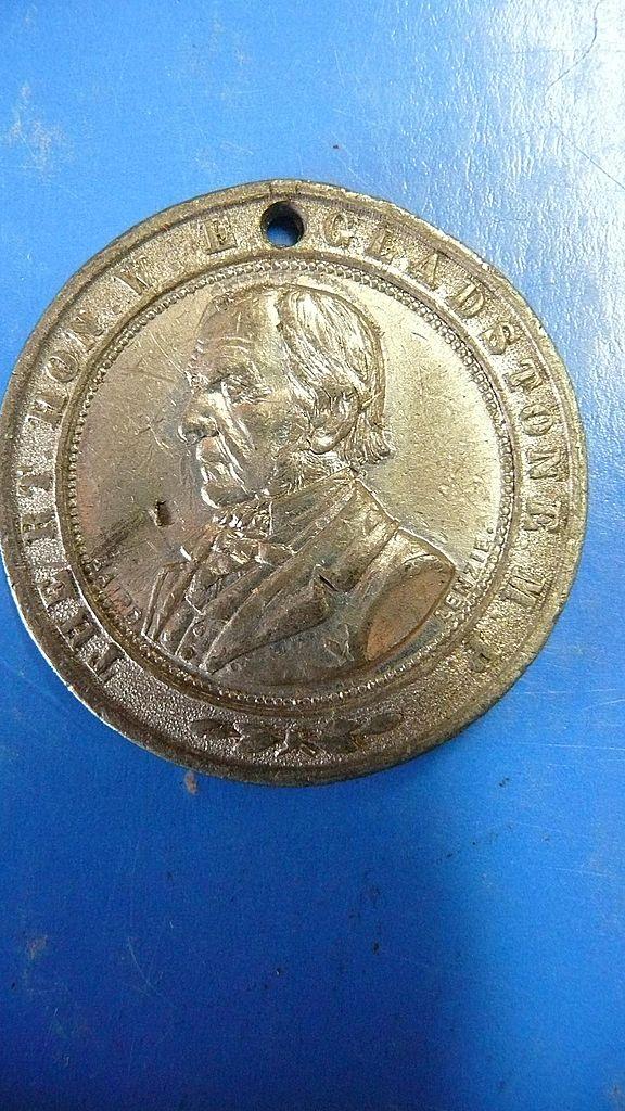 Rt. Hon. W.E. Gladstone 'Franchise Demonstration' 1884 Medallion