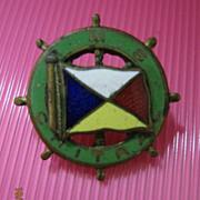 P & O LINER  R.M.S. Chitral - Souvenir  Brooch