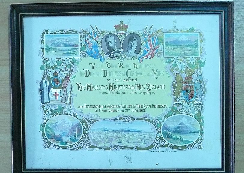 1901 Duke & Duchess of Cornwall Invitation
