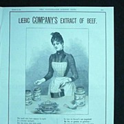 LIEBIG EXTRACT OF BEEF - Original Full Page Advert Illustrated London News March 1890