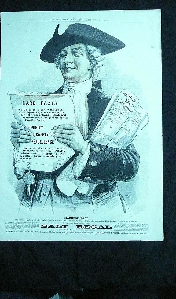 SALT REGAL - Original Full Page Advert Illustrated London News 1890