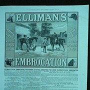 ELLIMAN'S EMBROCATION - Original Full Page Advert Illustrated London News 1885