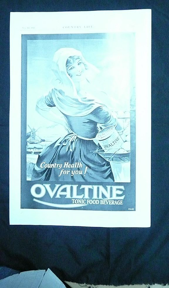 OVALTINE - original Full Page from COUNTRY LIFE Magazine 1927
