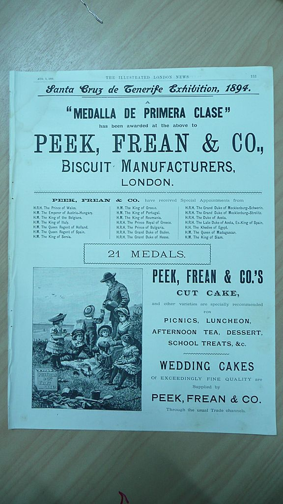PEEK, FREAN & Co Full page Illustrated London News 1895