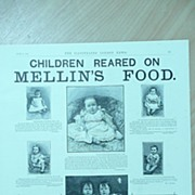 Mellin's Baby Foods Full Page From The London Illustrated News 1892