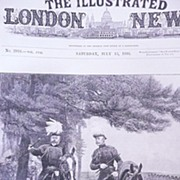 Front Page From The London Illustrated News July 13 1895 'The Prince of Wales & Duke of Connaught'