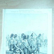 Battles of The British Army 'CORUNNA' Full Page from The London Illustrated News 1895