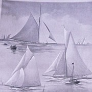 "Lord Dunraven's Yacht ""VALKYRIE III' Full Page from The London Illustrated News August 1895"
