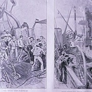 'The NAVAL Manoeuvres H.H.S. Repulse 'Full Page from The London Illustrated News August 1895
