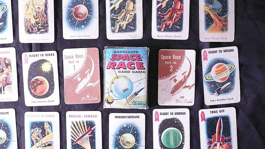 Retro Children's Card Game 'SATELITE' Space Race