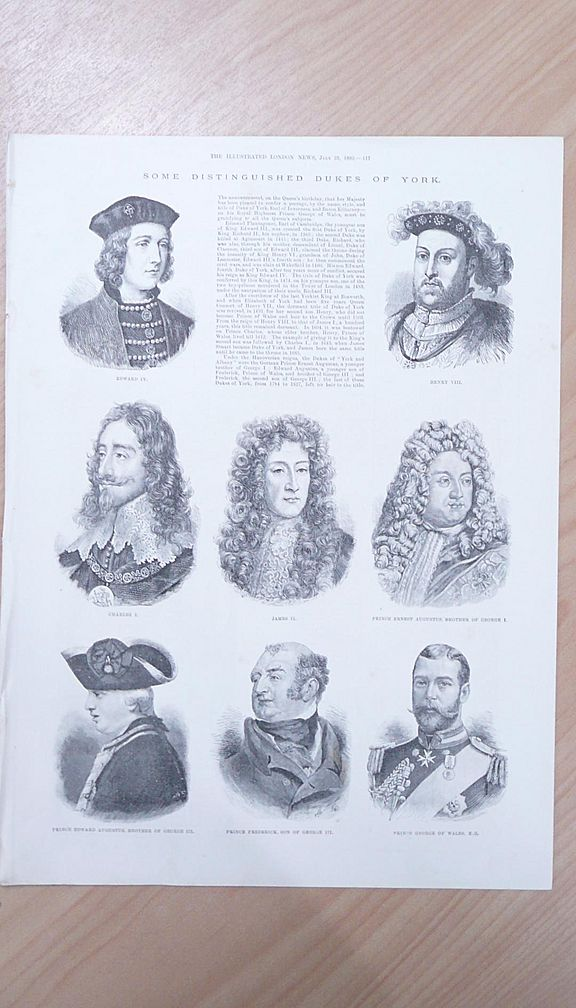 Some Distinguished Dukes of York 1892