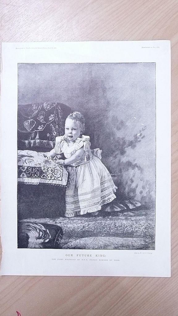 Our Future King - First Birthday of H.R.H. Prince Edward of York - Born 1841