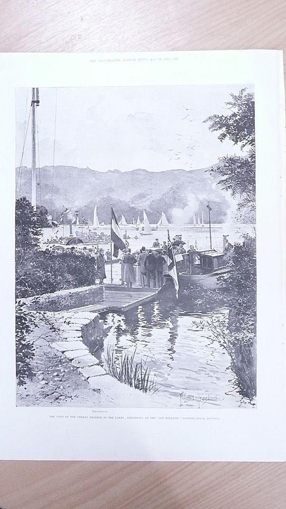 "Full Page Illustrated London News  1895 ""Visit of The German Emperor to The Lakes"""