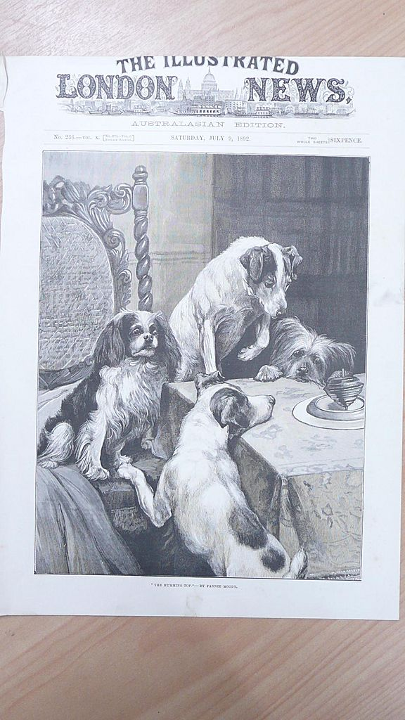 """Front Page Illustrated London News  1892 """"The Humming Top"""""""