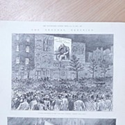"Full Page Illustrated London News 1895  ""The General Election - Outside of The Pall Mall Gazette"""