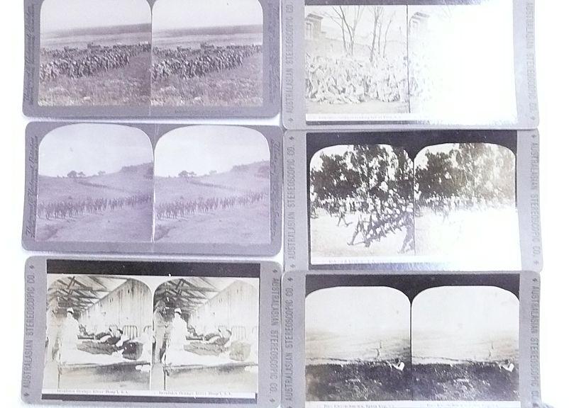 Six  BOER WAR Stereoscopic Cards