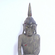 Very Old Large hand Carved Wooden  BUDDHA -Thailand Circa 19th Century