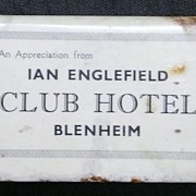 Early 1900's  Humorous Matchbox Holder 'CLUB HOTEL'