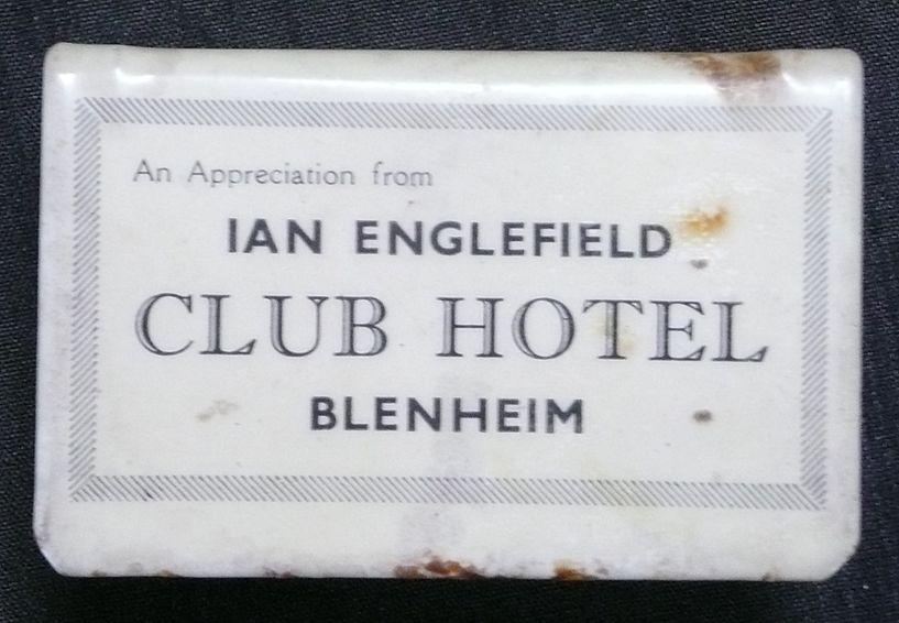 Early 1900's  Humorous Matchbox Holder 'CLUB HOTEL'