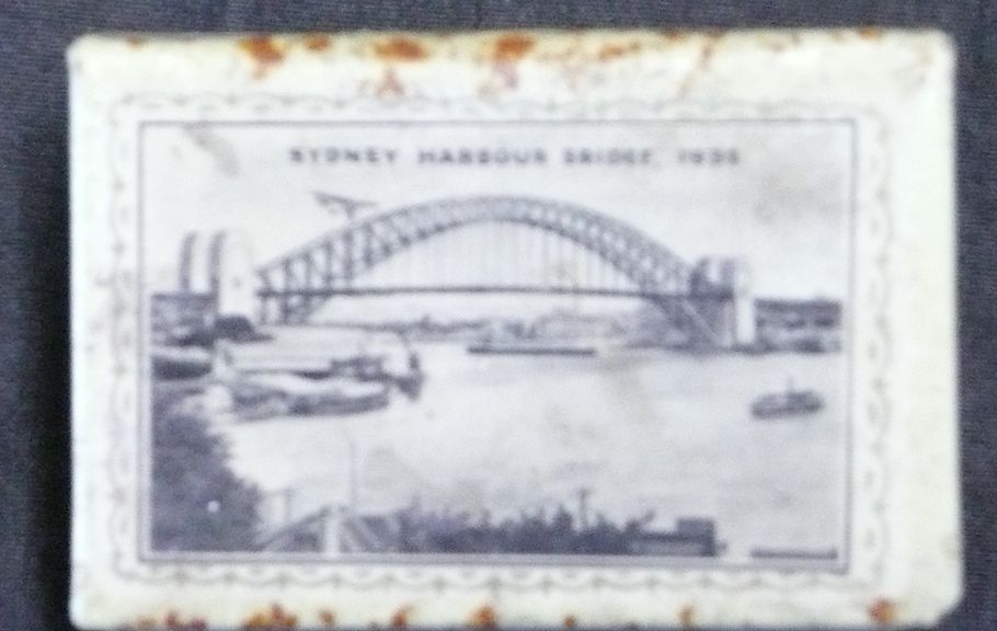 Early 1900's Australian Matchbox Holder 'Sydney Harbour Bridge'