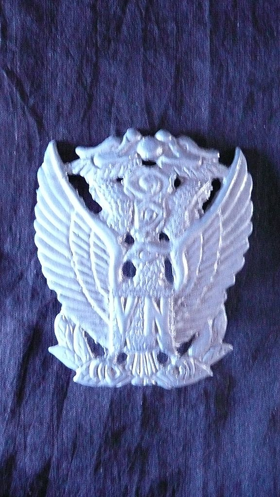 VIETNAM War - RARE South Vietnam Air Force - VNAF- Officers Cap Badge