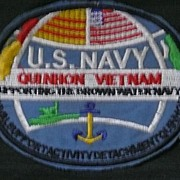 Vietnam War - QUI NHON- Brown Water Navy SUPPACT Patch