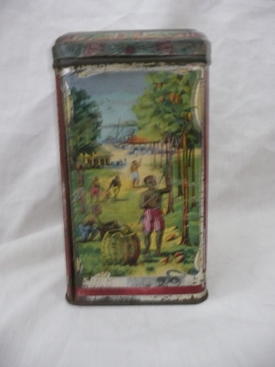 COOLIE Brand Cocoa Tin - Indian Tea Planters Combination - London - Circa 1890-1910