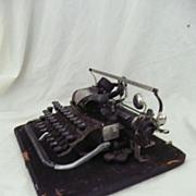 Blickensderfler No 7 Typewriter Circa 1897