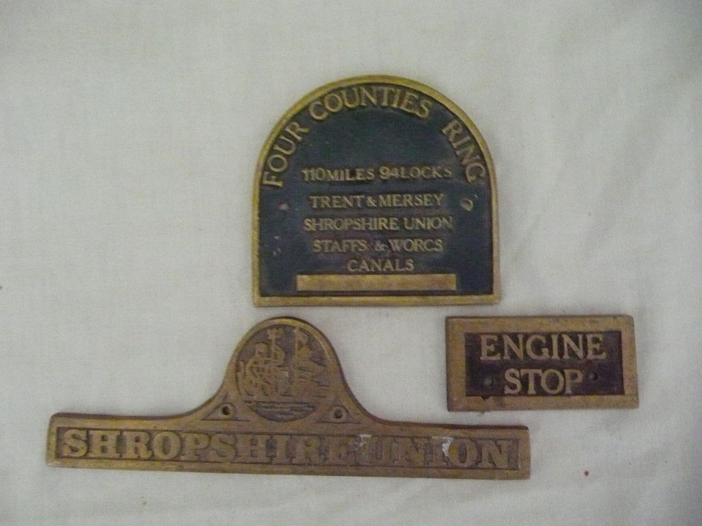 Old English CANAL Boat Signage Pieces