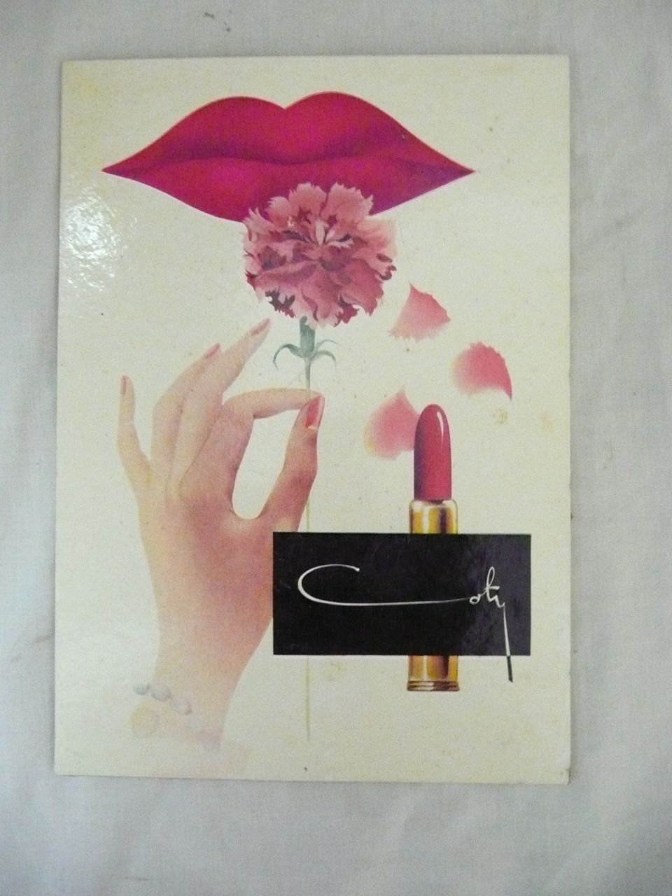 Old COTY Advertising Display Card Circa 1960's