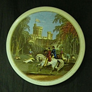 Victorian Ceramic Paste Pot Lid - Windsor Castle