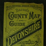 "1892 ""Bacon's"" DEVONSHIRE Country Map & Guide"