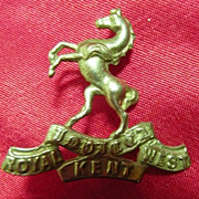 WW1 British Army Badge - Royal West Kent