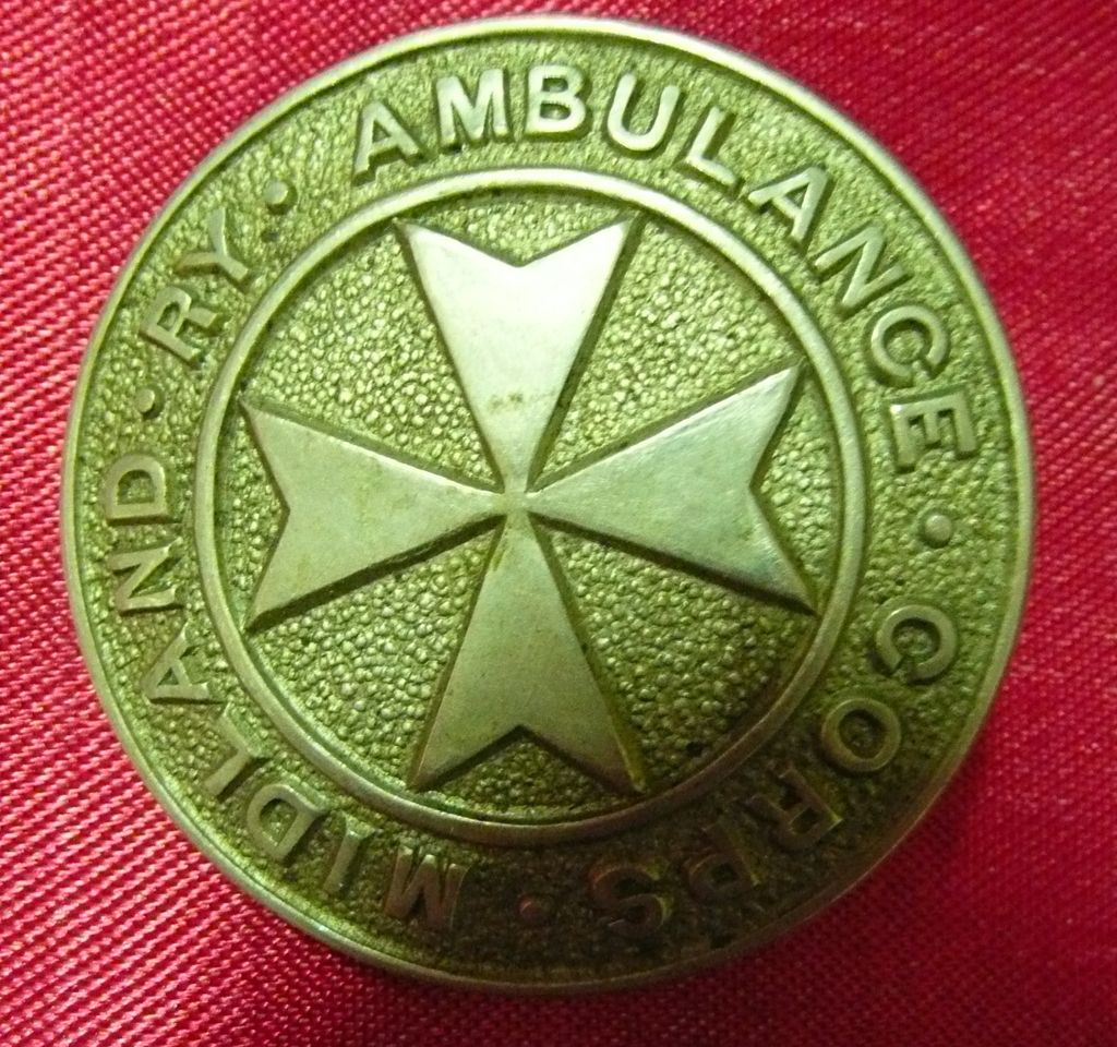 MIDLAND RAILWAY - UK-  Ambulance Corps Badge - Circa 1910-1920