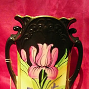 Beautiful Old Victorian Hand-Painted Vase
